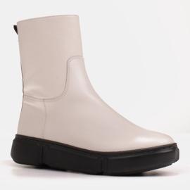 Marco Shoes Stivaletti sportivi bianchi realizzati in morbida pelle naturale bianco 2