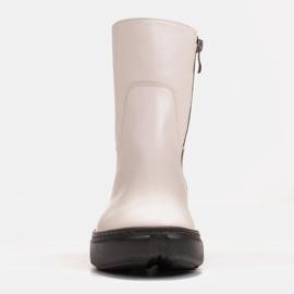 Marco Shoes Stivaletti sportivi bianchi realizzati in morbida pelle naturale bianco 3