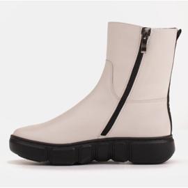 Marco Shoes Stivaletti sportivi bianchi realizzati in morbida pelle naturale bianco 4