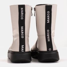 Marco Shoes Stivaletti sportivi bianchi realizzati in morbida pelle naturale bianco 5