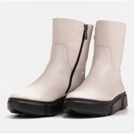 Marco Shoes Stivaletti sportivi bianchi realizzati in morbida pelle naturale bianco 6