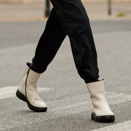 Marco Shoes Stivaletti sportivi bianchi realizzati in morbida pelle naturale bianco 1