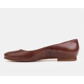 Marco Shoes Ballerine in pelle fiore marrone, lucidate a mano 2