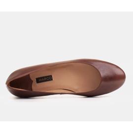 Marco Shoes Ballerine in pelle fiore marrone, lucidate a mano 4
