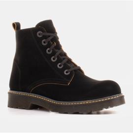 Marco Shoes Stivaletti alti, stivali legati su una suola traslucida nero 1