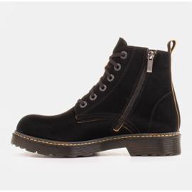 Marco Shoes Stivaletti alti, stivali legati su una suola traslucida nero 2