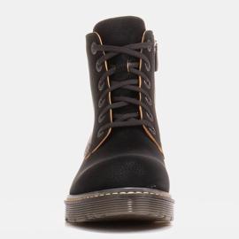 Marco Shoes Stivaletti alti, stivali legati su una suola traslucida nero 3