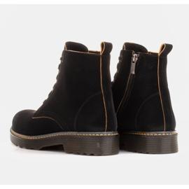Marco Shoes Stivaletti alti, stivali legati su una suola traslucida nero 5