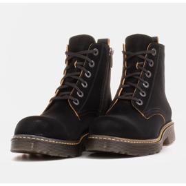 Marco Shoes Stivaletti alti, stivali legati su una suola traslucida nero 6
