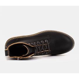 Marco Shoes Stivaletti alti, stivali legati su una suola traslucida nero 4