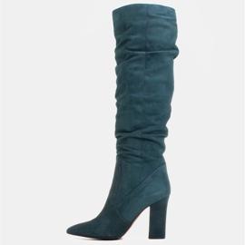 Marco Shoes Stivali verdi alti e stropicciati in camoscio naturale natural verde 2