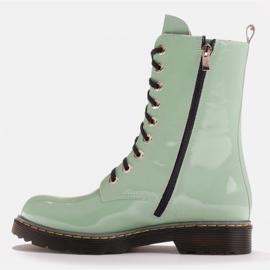 Marco Shoes Stivaletti alti, stivali legati su una suola traslucida verde 3