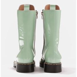 Marco Shoes Stivaletti alti, stivali legati su una suola traslucida verde 5
