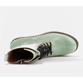 Marco Shoes Stivaletti alti, stivali legati su una suola traslucida verde 7