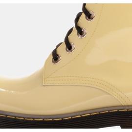 Marco Shoes Stivaletti alti, stivali legati su una suola traslucida giallo 6