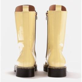 Marco Shoes Stivaletti alti, stivali legati su una suola traslucida giallo 5