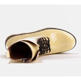 Marco Shoes Stivaletti alti, stivali legati su una suola traslucida giallo 7
