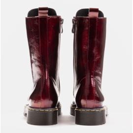 Marco Shoes Stivaletti alti, stivali legati su una suola traslucida rosso 5