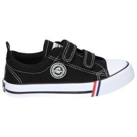 American Club Sneakers nere americane LH33/21 velcro nero 2