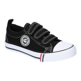 American Club Sneakers nere americane LH33/21 velcro nero 3