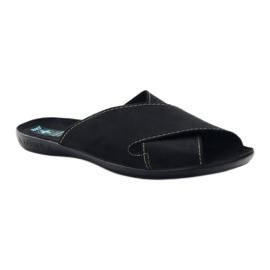 Pantofole da uomo Adanex 20310 nere nero 1