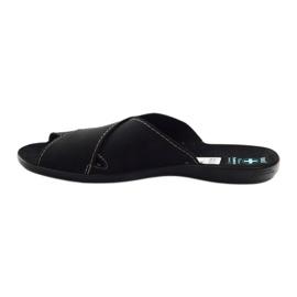 Pantofole da uomo Adanex 20310 nere nero 2