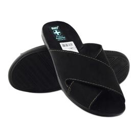 Pantofole da uomo Adanex 20310 nere nero 3