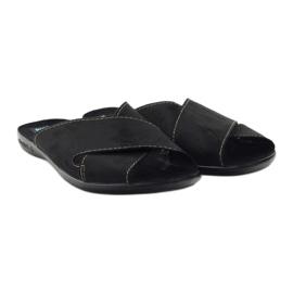 Pantofole da uomo Adanex 20310 nere nero 4