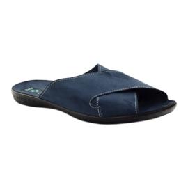 Pantofole da uomo Adanex 20308 blu navy marina 1