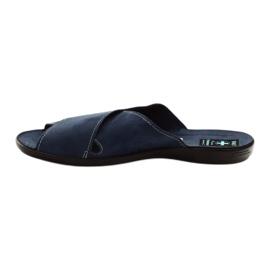 Pantofole da uomo Adanex 20308 blu navy marina 2