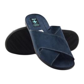 Pantofole da uomo Adanex 20308 blu navy marina 3