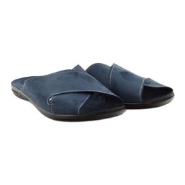 Pantofole da uomo Adanex 20308 blu navy marina 4