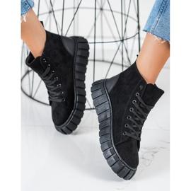 Seastar Sneakers In Pelle Scamosciata Con Catena nero 1