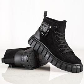 Seastar Sneakers In Pelle Scamosciata Con Catena nero 2