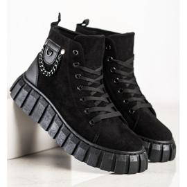 Seastar Sneakers In Pelle Scamosciata Con Catena nero 3