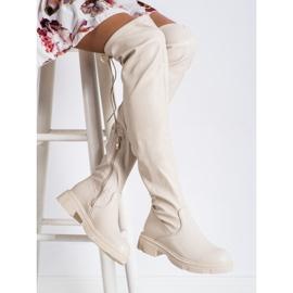 Seastar Stivali beige alla moda con ecopelle 2