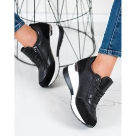 SHELOVET Sneakers con zeppa leggera nero 1