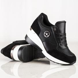 SHELOVET Sneakers con zeppa leggera nero 2