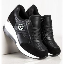 SHELOVET Sneakers con zeppa leggera nero 3