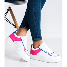 SHELOVET Scarpe sportive alla moda bianca 2