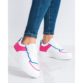 SHELOVET Scarpe sportive alla moda bianca 1