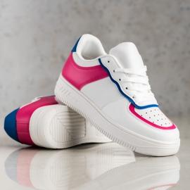SHELOVET Scarpe sportive alla moda bianca 4