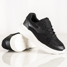 SHELOVET Scarpe da ginnastica nere casual nero 4
