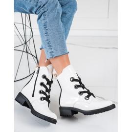 Stivali stringati VINCEZA bianca 1