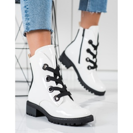 Stivali stringati VINCEZA bianca 4
