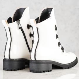 Stivali stringati VINCEZA bianca 2