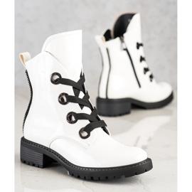 Stivali stringati VINCEZA bianca 3