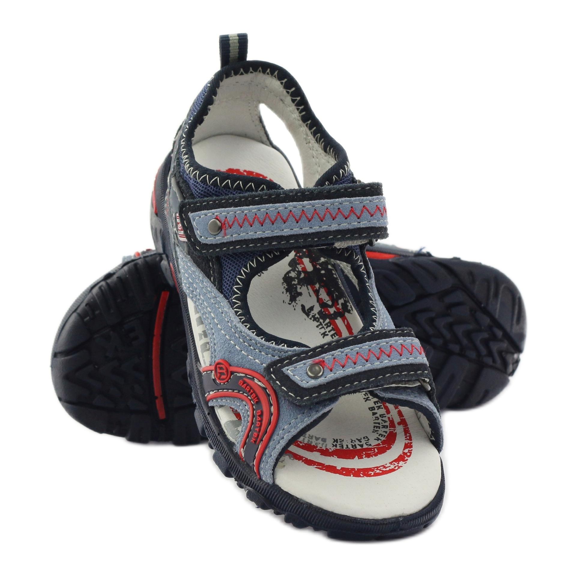 miniatura 4 - Sandali da ragazzo Bartek 19113 blu rosso multicolore