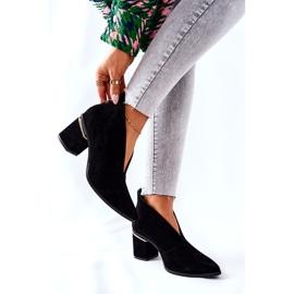 Stivali in pelle con tacco alto Laura Messi Nero 2344 6