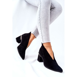 Stivali in pelle con tacco alto Laura Messi Nero 2344 2